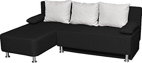 ONUX Ecksofa Couch mit Schlaffunktion Schwarz - 2