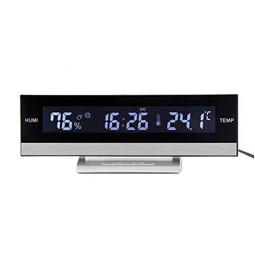 DDUUOO Inicio LCD Digital Pantalla Grande Grande Pantalla Led Reloj Despertador Electrónico Temperatura...