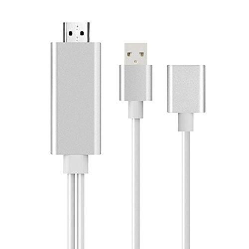 (HKFV Für Samsung Galaxy S6 S7 Mini USB MHL zu HDMI 1080P TV Adapter Kabel HD Mobiltelefon an TV HD-Kabel angeschlossen)
