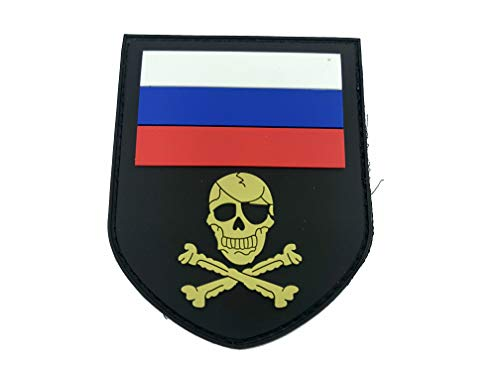 Russland Russisch Totenkopf PVC Klett Emblem Abzeichen Patch -