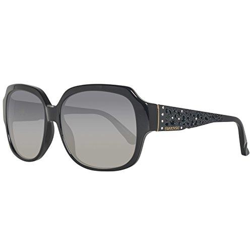 Swarovski sk0054-5801b, occhiali da sole donna, nero (shiny black), 58