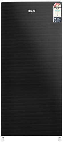 Haier 195 L 4 Star Direct-Cool Single-Door Refrigerator (HRD-1954CKG, Black,...