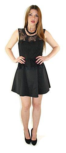 #928 design robe de soirée pour femme summer robe à dentelle ettuikleid retrostyle 34/36/38/40 Noir - Noir