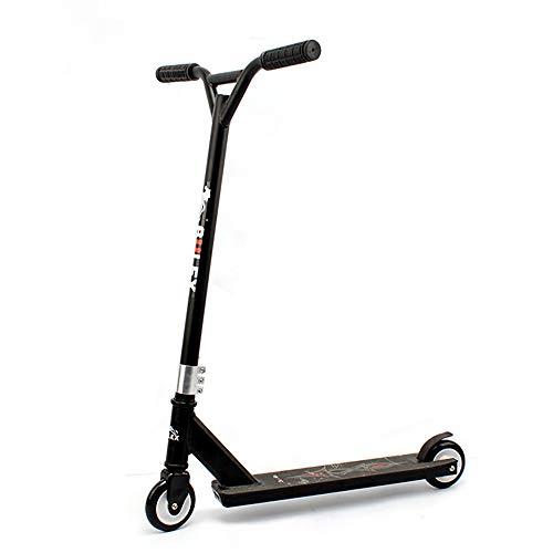 JW-HBC Adulti Scooter a Due Ruote Estrema Auto, la Sicurezza Professionale e Robusta Fredda Estrema Scooter,Nero