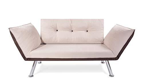 EasySitz 2 Sitzer Sofa 2-Sitzer Schlafsofa Zweisitzer Kleines Schlafsessel Bettsofa Futon Bed Couch...