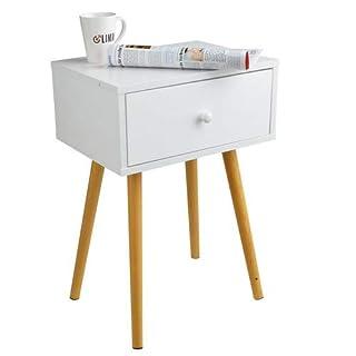 Limal Beistelltisch, Holz, Weiß, 30 x 40 x 59 cm