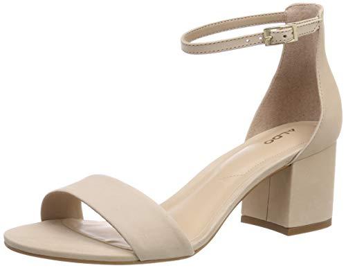 Bone Suede Schuhe (ALDO Damen VILLAROSA Riemchensandalen, Beige (Bone Suede 31), 36 EU)