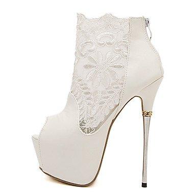 Moda Donna Sandali Sexy donna tacchi Primavera / Estate Autunno / Piattaforma / Comfort PU / Abito in pizzo / Casual Stiletto Heel rosa / a piedi di mandorle / Altri Black