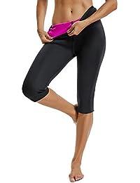 5f3075035cb2 FITTOO Sauna Pants Donna Hot Shapers Donna Pantaloncino Fitness Snellente,  Rosa e Nero, XL