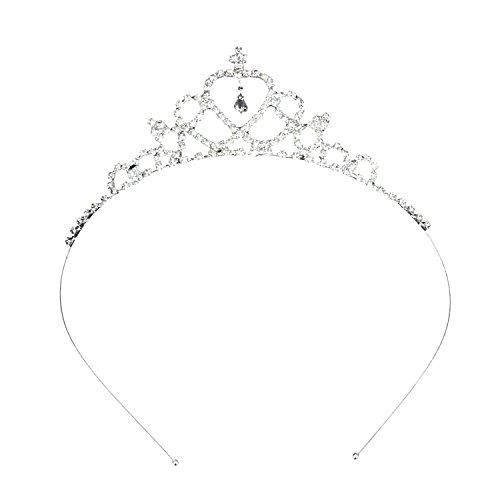Katara 1669 -  Hochzeits Diadem, Karneval, JGA, Fasching, Hochzeit in Silber, One Size