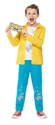 Smiffys 27142M - Roald Dahl Charlie Bucket Kostüm mit Top Hosen und Golden Ticket