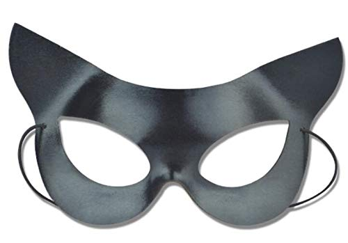 Sexy elegante pizzo maschera Catwoman ritaglio Prom party maschera veneziana masquerade Mask (nero)