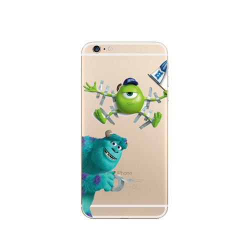 DISNEY MONSTER UNI TRANSPARENT CLEAR TPU SOFT CASE FOR APPLE IPHONE 8 PLUS M.U 6 M.U 1