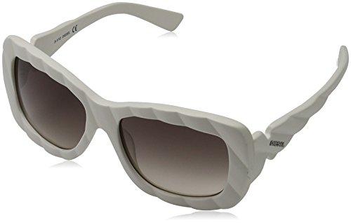 Diesel Unisex Sonnenbrille DL0006, Weiß (Weiß 5621B), Medium