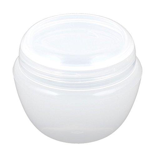 sourcingmap Plastique produits de beauté Vide Pot Pot Crème Visage Peau Lotion Support 50g Transparent