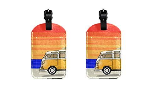 2 Stück Trainer Strapazierfähiger PU-Leder-Gepäckanhänger Stilvolle Gepäckanhänger Praktische Gepäckanhänger für Reisen, Ausweise für Männer, Frauen und Kinder