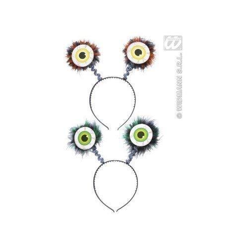 Kostüm Augen Fledermaus - Widmann s.r.l. Haarreif Halloween mit grünen Augen