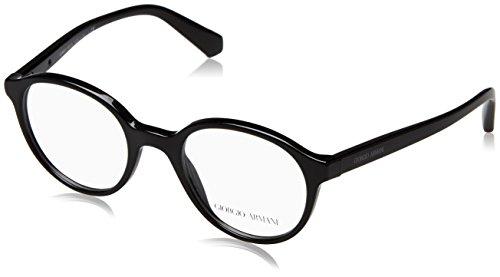 Armani Unisex-Erwachsene 0AR7095 Brillengestelle, Schwarz/Transparent, 5