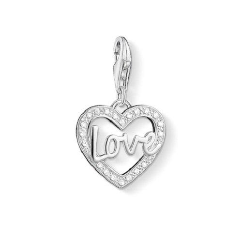 Gucci Herz (Thomas Sabo Damen-Charm-Anhänger Herz Liebe Charm Club 925 Sterling Silber Zirkonia weiß 1310-051-14)
