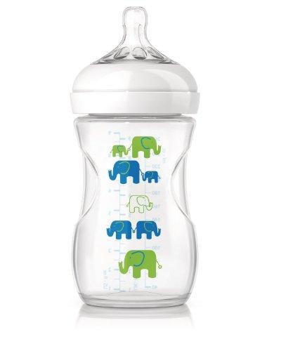 Preisvergleich Produktbild Philips Avent SCF627/17 Anti-Kolik Naturnah-Flasche 260 ml, 1er-Pack, Elefant blau