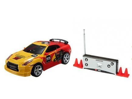 Gen 13 Mini Voiture n°55 Jaune et Rouge radiocommandee 7 cm - Drift tin Cars