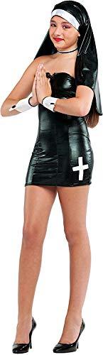 Suora Kostüm - Veneziano Carnevale Venizano CAV53184-12 - Teenagerkostüm SUORA SEXY - Alter: 12-16 Jahre - Größe: 12