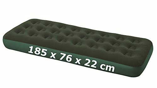 Izzy Luftbett Premium Gästebett Luftmatratze 1-2 Personen Matratze beflockt Velours-Liegefläche Reisebett Airbed Single & Double (8. Single XL - grün - 188 x 99 x 22 cm)