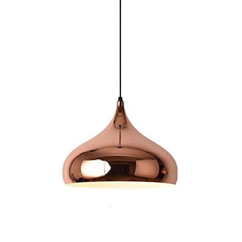 & Innenpendelleuchte Kronleuchter - Nordic kreative Kronleuchter Einzel-Kopf-Rose Gold industrielle Wind Persönlichkeit Kronleuchter (Standard warmes Licht) Pendelleuchte (Farbe : A) -