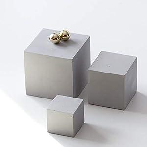 Atelier Ideco – Set Von 3 Betonwürfeln, Schmuck-Display, Geschenk Für Architekten