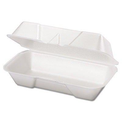 GENPAK Foam Hoagie Hinged Container, Medium, White, 125/Bag, 500/Case by Genpak Hoagie Container