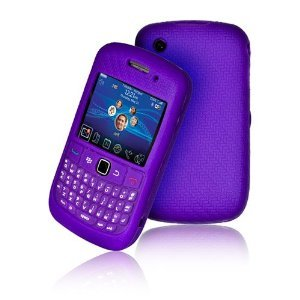 High Quality Purple Keypad Silicone Case For Blackberry Curve 9300