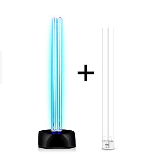 UV-Sterilisationslampe Doppelte UV-Birnen-ultraviolette keimtötende helle Lampe Haushaltskindergarten-bewegliche Desinfektionslampe mit Ozon-Ultraviolett umschaltbar 360 Grad Desinfektion 36W
