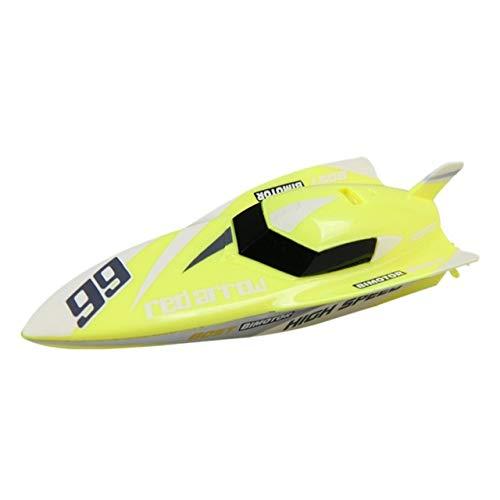 RC Boot für Kinder und Erwachsene High Speed   30KM / H Fernbedienung Spielzeugboot für Seen und Flüsse 2.4GHz wasserdichte Fernbedienung Elektrisches Schnellboot mit Batterie,Yellow