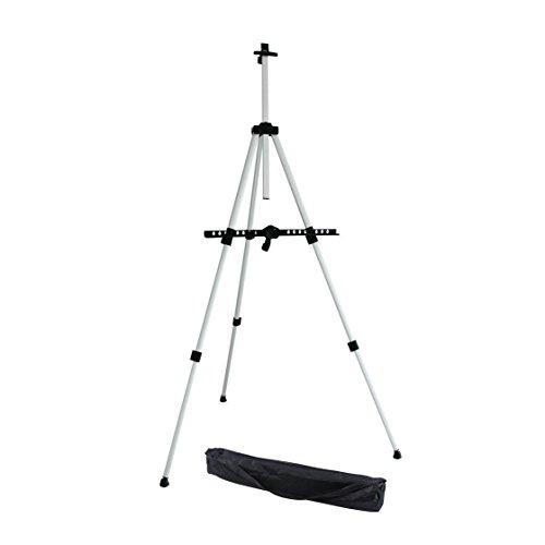 ohuhu Aluminium Feldstaffelei, für den Außen-und innen Bereich geeignet (indoor&outdoor) mit Tasche, Tischstaffelei, Höhenverstellbar von 21