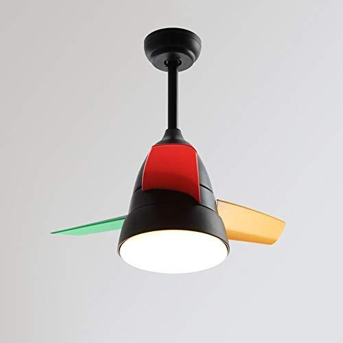 FXING Im nordischen Stil Ventilator Fernbedienung dimmbar Bügeleisen Acryl Schatten Hoher Transmissionsgrad Kronleuchter Mode Restaurant Wohnzimmer Beleuchtung Deckenventilator Lights (Color:#1-91 cm