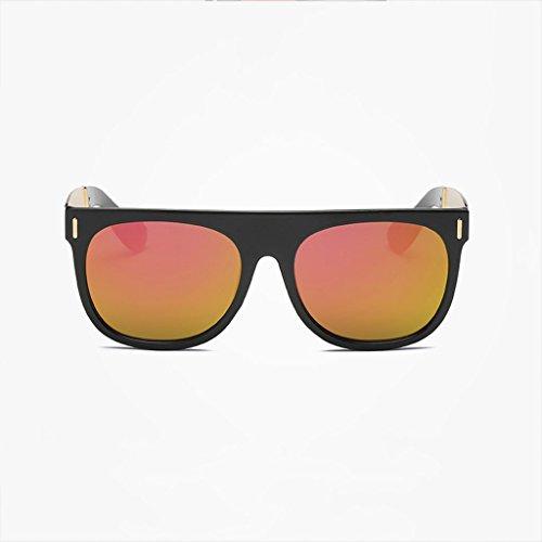 MWPO Polarisierte Sonnenbrille New ma 'am großen Rahmen Retro Mode einkaufstourismus Outdoor blendfreies licht Komfort langlebige Brille (Farbe: gelb)
