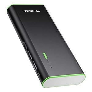 POWERADD Batería Externa Power Bank 10000mAh (3 USB, 5V 2A, Más 2.5A, con Linterna) Carga Rápida para iPhone iPad Samsung Xiaomi Móviles Inteligentes y Tableta