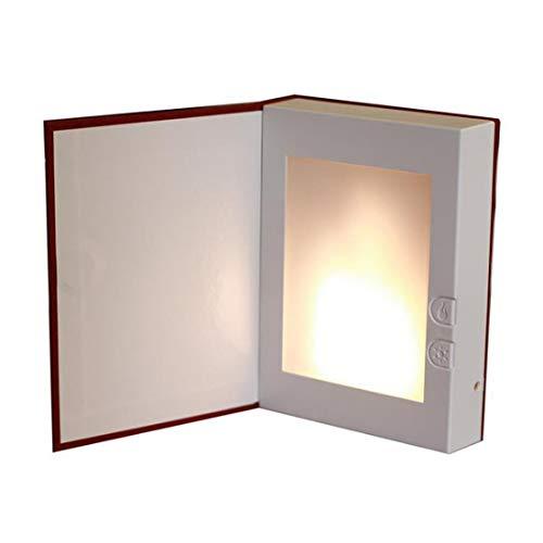 Material de ABS Luz de noche Estilo de dibujos animados Luz de libro magico 3D Modelado a la llama LED Toque Plegable Cargando regalo creativo Lampara de alimentacion marrón 15.2 * 11.2 * 3.2cm