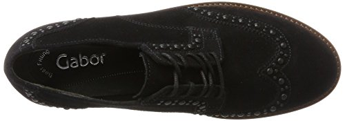Gabor Damen Fashion Derbys Blau (Pazifik (Cognac))