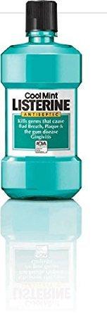 Listerine Cool Mint Antibakterielle Mundwasser 2x1L Flaschen -