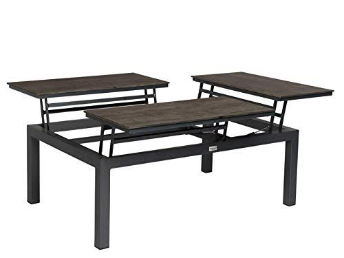Tierra Gartentisch Flip-up, Tischplatte verstell- und teilbar, Aluminium/HPL, rechteckig, anthrazit,...