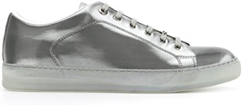 Unbekannt Lanvin Herren FMSKDBNCNEONP18M2 Silber Leder Sneakers