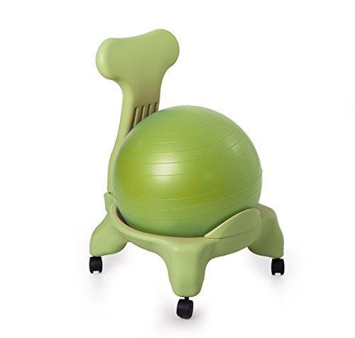 Kikka active chair verde con palla verde - sedia ergonomica con pallone gonfiabile