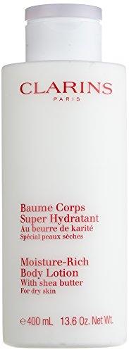 Clarins Lozione Corporale, Baume Corps Super Hydratant, 400 ml