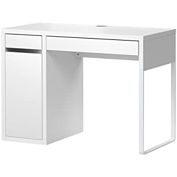 IKEA mICKE bureau avec rangement-blanc - 105 x 50 cm: Amazon.fr: Cuisine & Maison