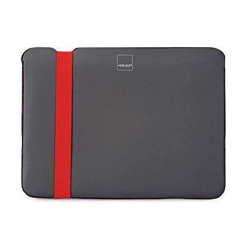 Acme Made Skinny Sleeve L, Ultra-dünne Notebookhülle, 14-15 Zoll, Neopren, grau/orange Extra Large Camera Bag