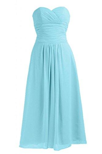 Sunvary Chic A-Line Sweetheart Chiffon vestito da damigella d'onore abito da sera Blue
