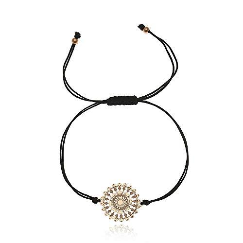 Tara Armband Mandala Edelstahl viele Farben Yogaschmuck Fairtrade