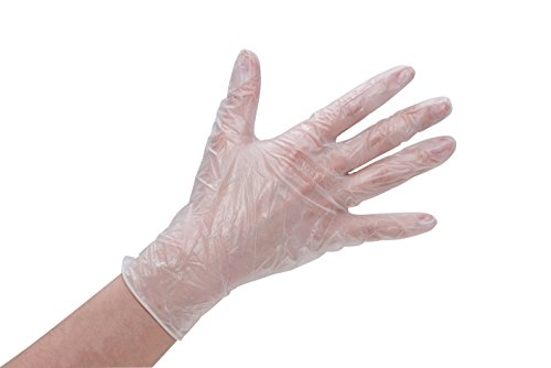 Care & Serve 404004 Gants vinyle Premium Taille XL de 115 mm x 240 mm, semi transparent blanc (Lot de 100), XL, 100