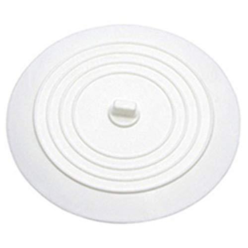 Benjamin George Pearson Auslaufsicherer Wasserstopper Waschbecken Haarfänger Runder Silikonflacher Deckel Küchenablassschraube Universal - Weiß